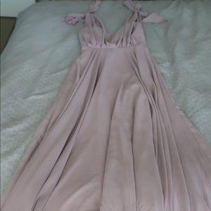 Lulu's mauve maxi dress